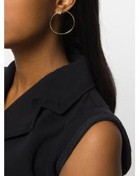 FEDERICA TOSI - Metallic Cubic Zirconia Hoop Earrings - Lyst