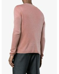Prada Pink Cashmere Sweater for men