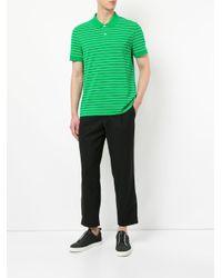 Calvin Klein - Green Striped Polo Shirt for Men - Lyst