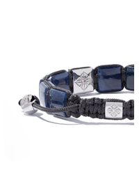 Shamballa Jewels - Blue 18kt White & Black Gold, Sapphire And Diamond Lock Bracelet - Lyst