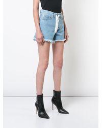 Off-White c/o Virgil Abloh - Blue Contrast Zipper Shorts - Lyst