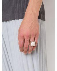 Henson - Metallic Horn Square Ring for Men - Lyst