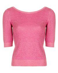 Moschino - Pink Fine Knit Sweater - Lyst
