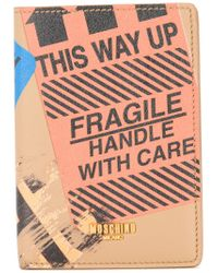 Moschino - Brown Parcel Print Wallet - Lyst