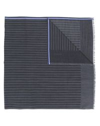 Bally - Gray Contrast Striped Scarf for Men - Lyst