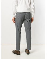 Entre Amis - Gray Cropped Tapered Trousers for Men - Lyst