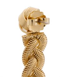 Janis Savitt - Metallic Braid Earrings - Lyst