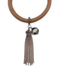 Loree Rodkin - Brown Diamond Eye Charm Tassel Bracelt - Lyst