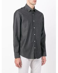 Hardy Amies - Gray Denim Twill Shirt for Men - Lyst