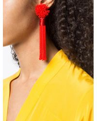Mignonne Gavigan - Red Beaded Drop Earrings - Lyst