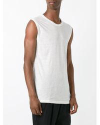T By Alexander Wang - White Sleeveless T-shirt for Men - Lyst