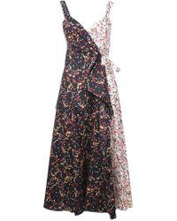 Rosie Assoulin - Blue Printed Maxi Wrap Dress - Lyst