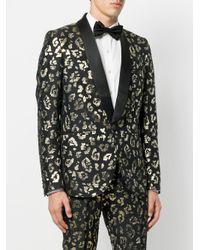 Christian Pellizzari - Black Animal Pattern Suit Blazer for Men - Lyst