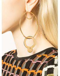 Eddie Borgo - Metallic Hoop And Sphere Drop Earrings - Lyst