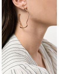 Maha Lozi - Metallic Wavelength Earrings - Lyst