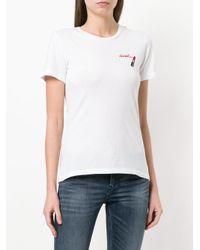 DIESEL - White Lipstick-print T-shirt - Lyst