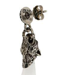 Prada - Metallic Tiger Stone Earrings - Lyst