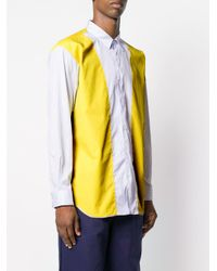 Comme des Garçons - Blue Colour-block Panelled Shirt for Men - Lyst