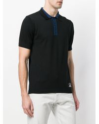 Fred Perry - Black Knitted Sports Polo Shirt for Men - Lyst