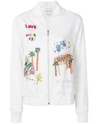 MIRA MIKATI White Venice Beach Jacket