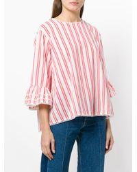 Essentiel Antwerp - Red Striped Blouse - Lyst