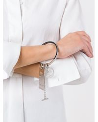 MM6 by Maison Martin Margiela - Metallic Tag Bracelet - Lyst
