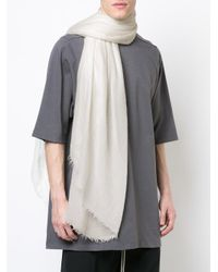 Rick Owens - White Sandy Scarf for Men - Lyst
