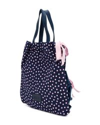 RED Valentino - Blue Polka Dot Tote - Lyst