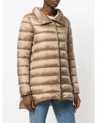 Save The Duck | Natural Metallic Padded Coat | Lyst
