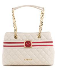Love Moschino | White Quilted Logo Tote | Lyst