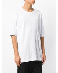Thom Krom - White Stitch Detail T-shirt for Men - Lyst