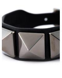 Valentino - Black Garavani Rockstud Bracelet - Lyst