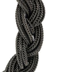 Emanuele Bicocchi | Black Braided Chain Bracelet for Men | Lyst