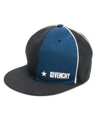 1ce7599ddab Lyst - Givenchy Paris Patch Cap in Blue for Men