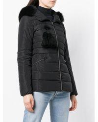 Peuterey - Black Fur Hood Puffer Jacket - Lyst