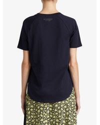 Burberry - Blue Ruffle Detail T-shirt - Lyst