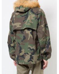 Enfants Riches Deprimes - Green Camouflage Print Army Parka for Men - Lyst