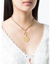 Eddie Borgo - Metallic Token Pendant Necklace - Lyst
