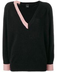 Pinko - Black 100% Cashmere Sweater - Lyst