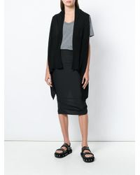 Rick Owens - Black Medium Sleeveless Cardigan - Lyst