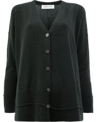 Lamberto Losani - Black Relaxed Fit Cardigan - Lyst