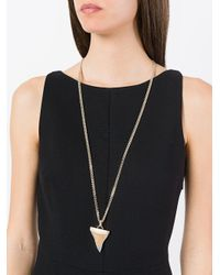 Givenchy - Metallic Shark Tooth Necklace - Lyst