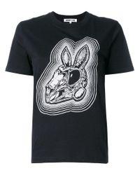 McQ Alexander McQueen - Black Bunny Be Here Now T-shirt - Lyst