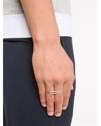 1-100 - Gray Two Finger Ring - Lyst