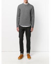 Roberto Collina - Gray Crew Neck Sweater for Men - Lyst