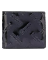 Maison Margiela - Black Logo Embossed Wallet for Men - Lyst