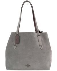 COACH - Gray Slouchy Tote - Lyst