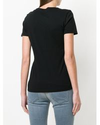 DIESEL - Black Textured Logo T-shirt - Lyst