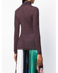 Faith Connexion - Purple Lurex Turtleneck Sweater - Lyst