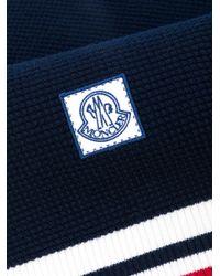 Moncler Gamme Bleu - Blue Striped Detail Scarf for Men - Lyst